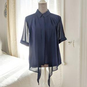 Lenny B. Navy blouse